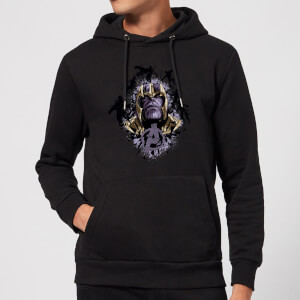 Avengers Endgame Warlord Thanos Hoodie - Black