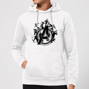 Sweat à capuche Avengers Endgame Hero Circle Homme - Blanc