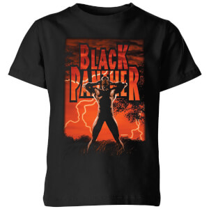 Marvel Universe Wakanda Lightning Kids' T-Shirt - Black