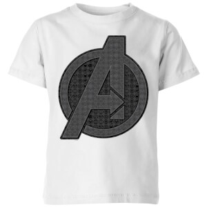 Avengers Endgame Iconic Logo Kids' T-Shirt - White