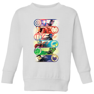 Sweat-shirt Avengers Endgame Original Heroes - Enfant - Blanc