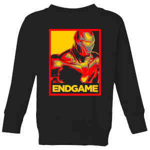 Avengers Endgame Iron Man Poster Kids' Sweatshirt - Black