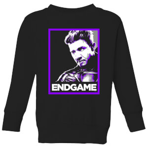 Avengers Endgame Hawkeye Poster Kids' Sweatshirt - Black