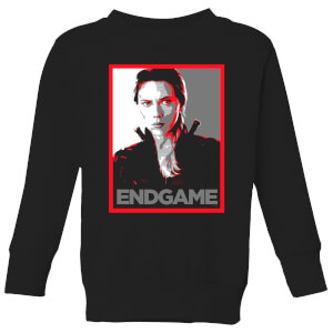 Avengers Endgame Black Widow Poster Kids' Sweatshirt - Black