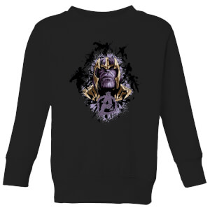 Sweat-shirt Avengers Endgame Warlord Thanos - Enfant - Noir