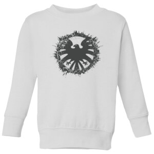 Marvel Avengers Agent Of SHIELD Logo Brushed Kids' Sweatshirt - White