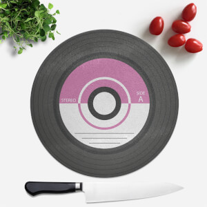 Purple Vinyl Round Chopping Board