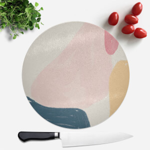 Crayon Pattern Blobs Round Chopping Board