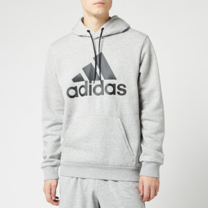 adidas Men's Bos Pull Over Hoodie - Grey
