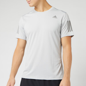 adidas Men's Own The Run Short Sleeve T-Shirt - Grey