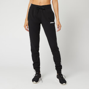 adidas Women's Essential 3 Stripe Sweatpants - Black