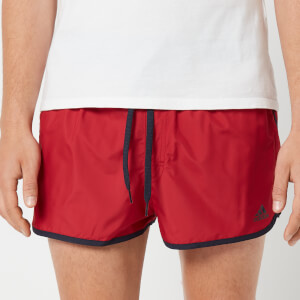 adidas Men's Split Swim Shorts - Red