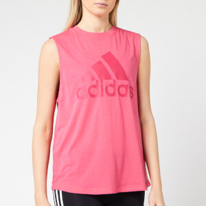 adidas Women's MH Bos Tank Top - Real Pink
