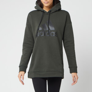 adidas Women's MH Bos Oh Hoodie - Legend Earth