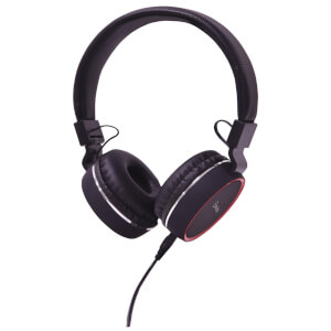 AV: Link Multimedia Headphones with Inline Microphone - Black/Red