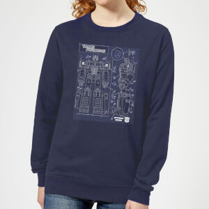 Transformers Optimus Prime Schematic Women's Sweatshirt - Navy