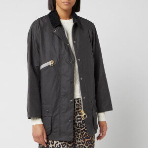 Barbour Women's Alexa Chung Edith Wax Jacket - Charcoal/Dress Gordon