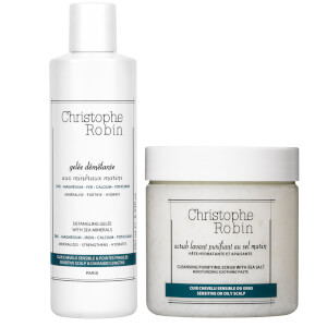 Christophe Robin Detangling Gelée and Cleansing Purifying Scrub with Sea Salt 250ml (Worth £69.00)