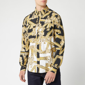 Versace Jeans Men's Printed Long Sleeve Shirt - Multi