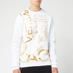Versace Jeans Men's Multi Logo Sweatshirt - Bianco Ottico