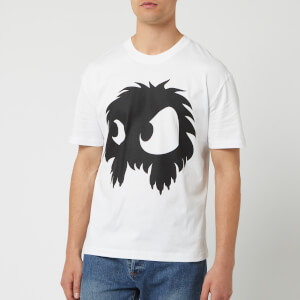 McQ Alexander McQueen Men's Screenprinted Monster Dropped Shoulder T-Shirt - Optic White/Black