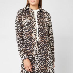 Ganni Women's Printed Shirt - Leopard