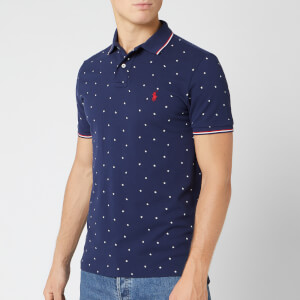 Polo Ralph Lauren Men's Mesh Polo Shirt - Tossed Stars