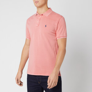 Polo Ralph Lauren Men's Towelling Polo Shirt - Red Sky