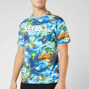 KENZO Men's Paris Straight World T-Shirt - Cobalt