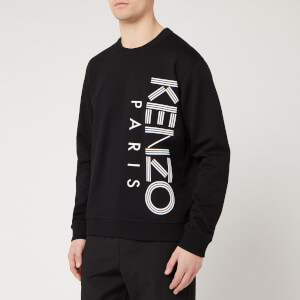 KENZO Men's Vertical Logo Sport Sweatshirt - Black