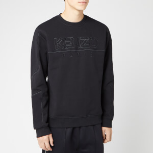 KENZO Men's Mixed Mesh Sweatshirt - Black