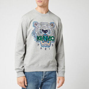 KENZO Men's Classic Tiger Embroidered Sweatshirt - Pearl Grey