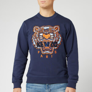 KENZO Men's Classic Tiger Embroidered Sweatshirt - Ink