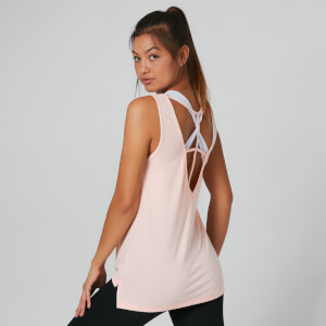 Myprotein Drop Back Strap Detail Vest Top - Pearl Blush