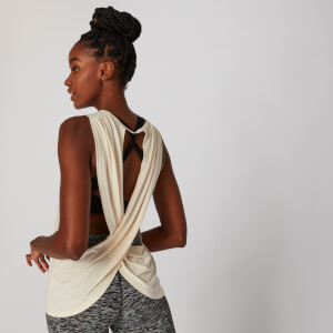 Cross Back Vest - Cream
