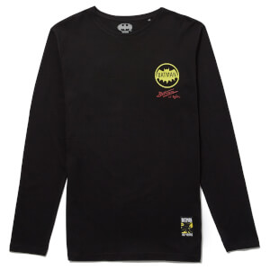 Batman 80th Anniversary Batman & Robin Long Sleeve T-Shirt - Black