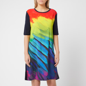 PS Paul Smith Women's Feather Print T-Dress - Multi