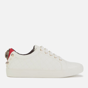 Kurt Geiger London Women's Ludo Leather Quilted Low Top Trainers - White
