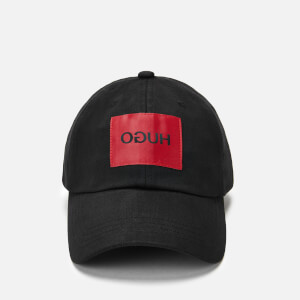 HUGO Men's Patch Logo Cap - Black/Red