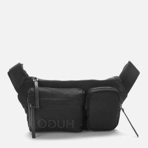 HUGO Men's Record Nylon Logo Waist Bag - Black
