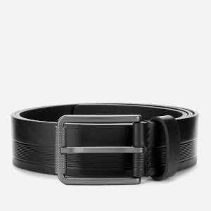 BOSS Men's Tylir Stripe Belt - Black