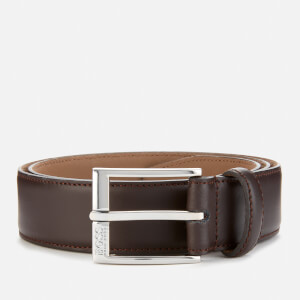 BOSS Men's Ellotyo Leather Stitching Detail Belt - Brown