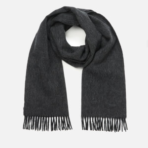 BOSS Men's Heroso Fringe Logo Scarf - Black