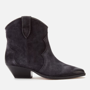 Isabel Marant Women's Dewina Low Heel Ankle Boots - Faded Black