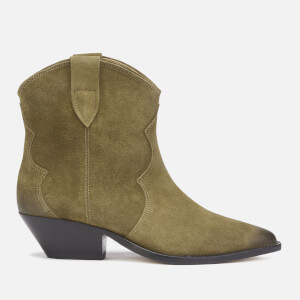 Isabel Marant Women's Dewina Low Heel Ankle Boots - Taupe