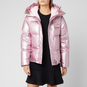 KENZO Women's Metalized Crinkled Puffa Jacket - Flamingo Pink