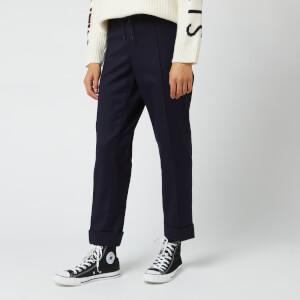 KENZO Women's Flannel Trousers - Midnight Blue