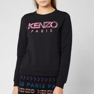 KENZO Women's Classic Cotton Moleton Sweatshirt - Black