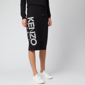 KENZO Women's Kenzo Sport Cotton Classic Moleton Skirt - Black