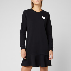 KENZO Women's Tiger Crest Cotto Moleton Dress - Black